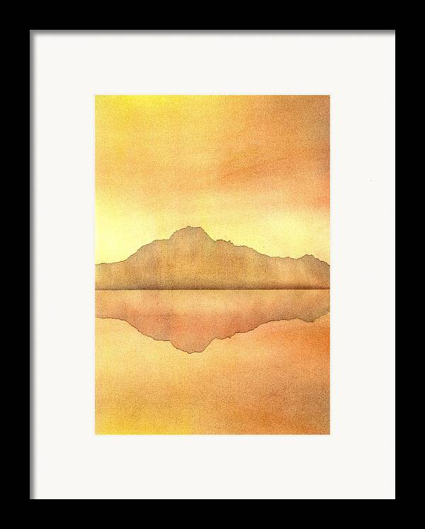 Landscape Framed Print featuring the painting Misty Sunset by Hakon Soreide