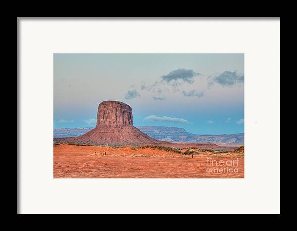 Clarence Holmes Framed Print featuring the photograph Mitchell Butte In Monument Valley by Clarence Holmes