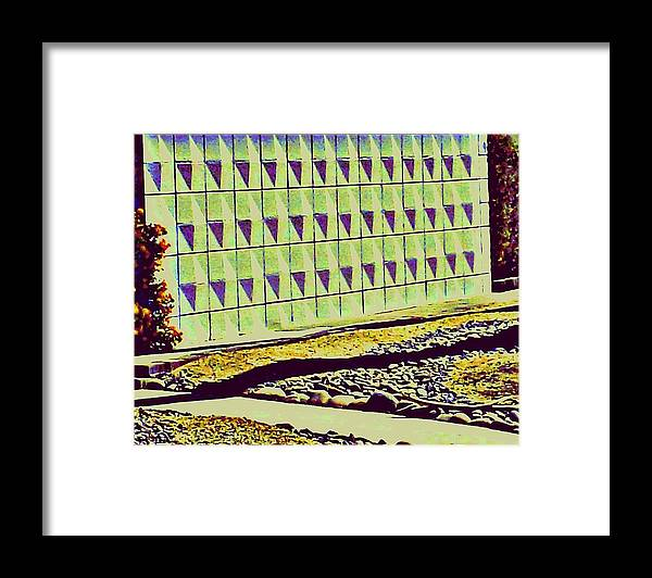 Modern Architecture Framed Print featuring the photograph Mod Wall Tree Shadow by Randall Weidner