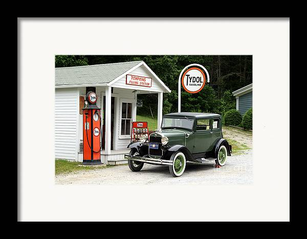Antique Car Framed Print featuring the photograph Model A Ford by Ted Kinsman