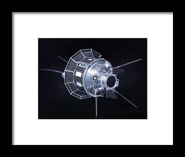 Lunik 3 Framed Print featuring the photograph Model Of The Luna 3 Spacecraft by Ria Novosti