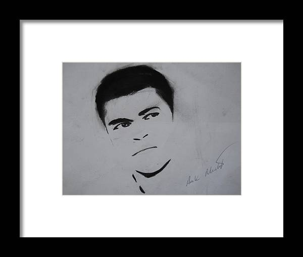 Mohammed Framed Print featuring the drawing Mohammed Ali by Ahmed Mustafa