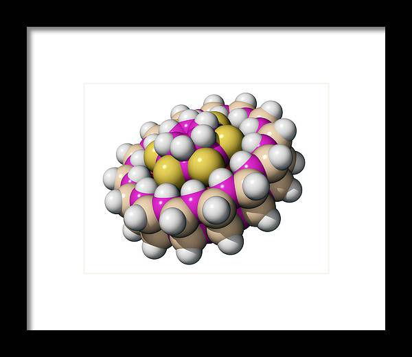 Molecule Framed Print featuring the photograph Molecular Bearing, Computer Model by Laguna Design