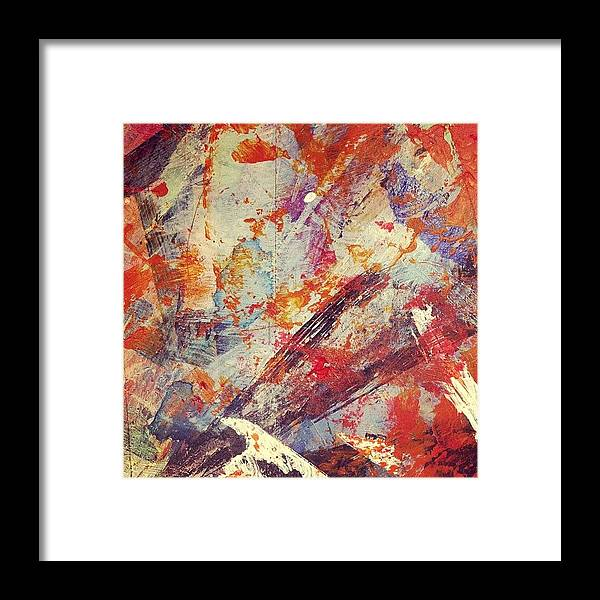 Paint Framed Print featuring the photograph Molten Lava by Nic Squirrell
