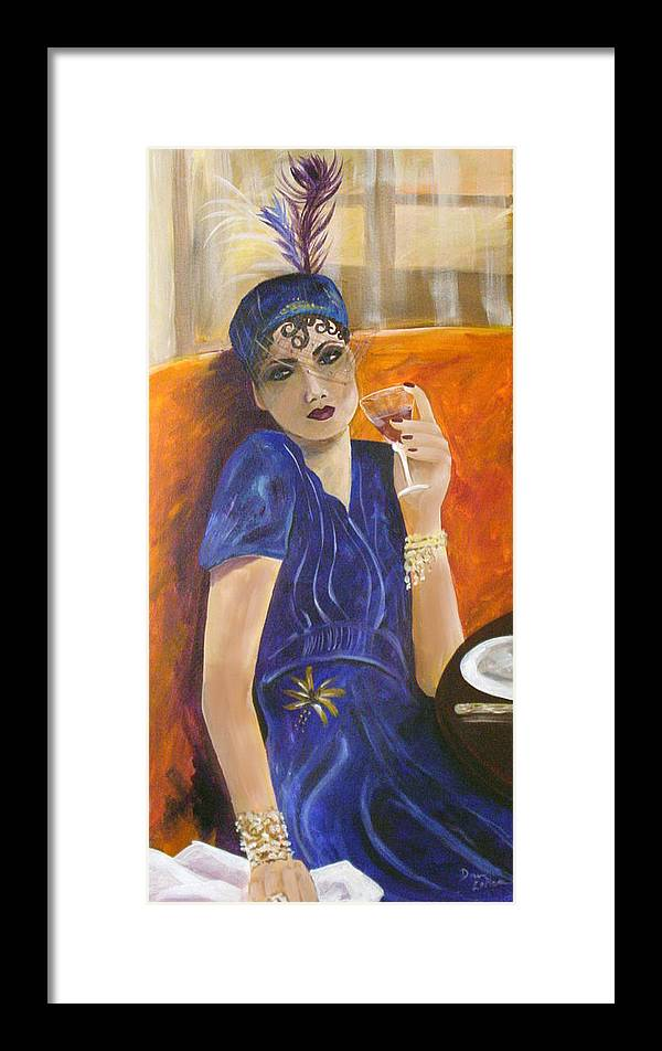 Lady Framed Print featuring the painting Mom Ami by Donna Laplaca