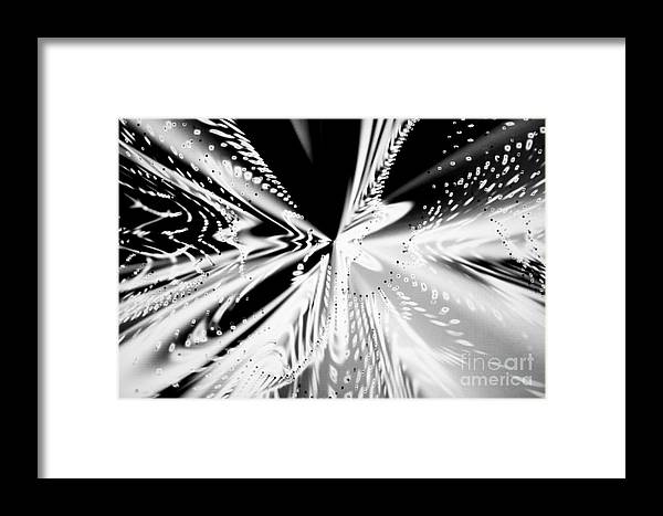 Abstract Framed Print featuring the photograph Monochromatic Dance by Tashia Peterman