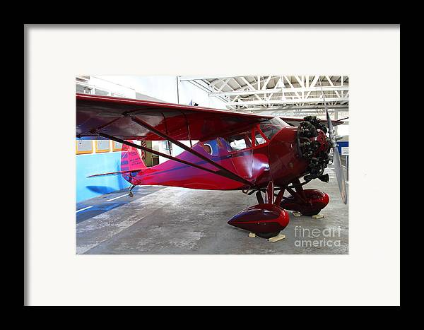 Airplane Framed Print featuring the photograph Monocoupe 110 . 7d11144 by Wingsdomain Art and Photography