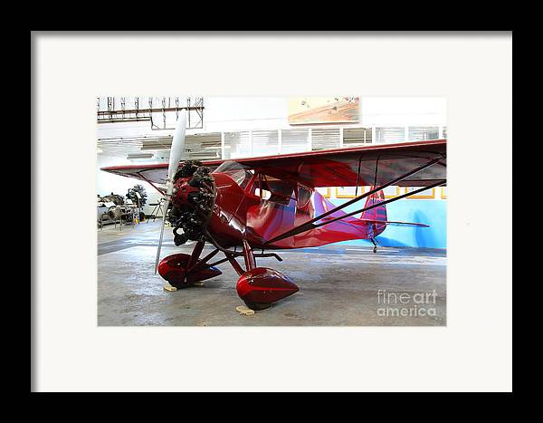 Airplane Framed Print featuring the photograph Monocoupe 110 . 7d11149 by Wingsdomain Art and Photography