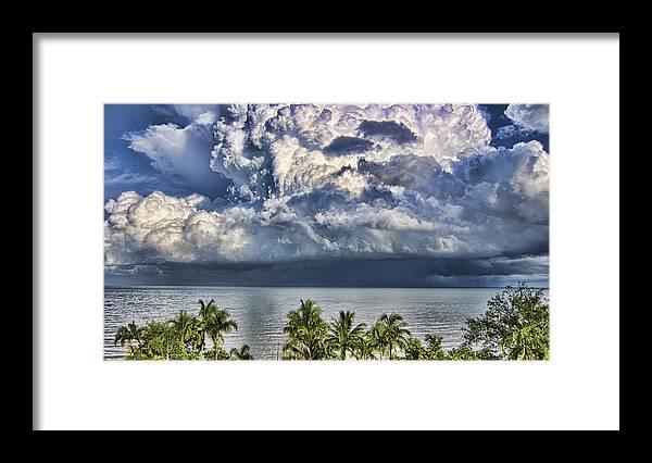 Monsoon Rain Cloud Framed Print featuring the photograph Monsoon Rain Cloud by Douglas Barnard
