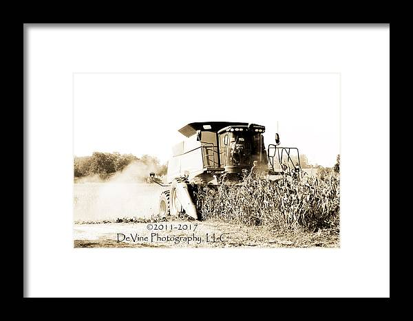 John Deer Framed Print featuring the photograph Monster Tractor by Stephani JeauxDeVine