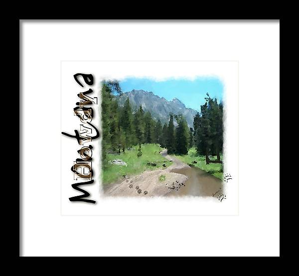 Greeting Card Framed Print featuring the painting Montana Howdy by Susan Kinney