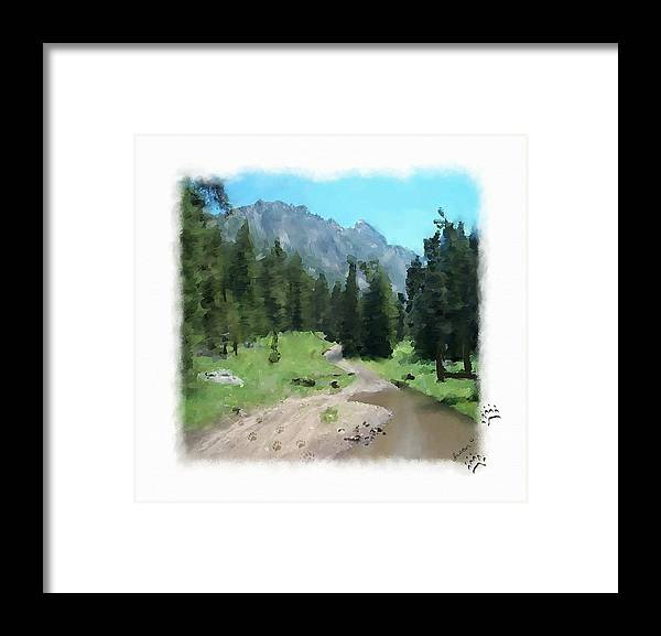 Digital Painting Framed Print featuring the painting Montana Mudhole by Susan Kinney