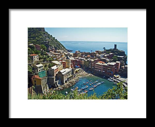 Italy Framed Print featuring the photograph Monterosso Italy by Russell Todd