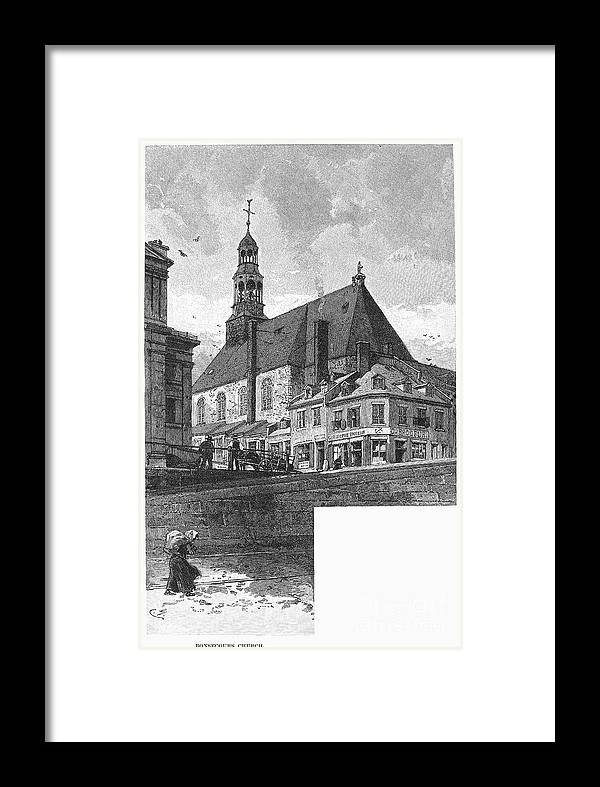1889 Framed Print featuring the photograph Montreal: Bonsecours by Granger