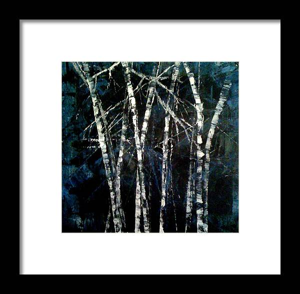 Oil Painting Framed Print featuring the painting Moods Of Winter by Holly Suzanne