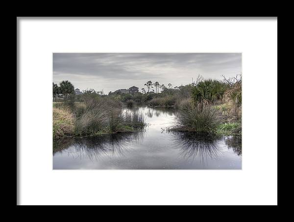 Pensacola Framed Print featuring the photograph Moody Marsh by David Troxel