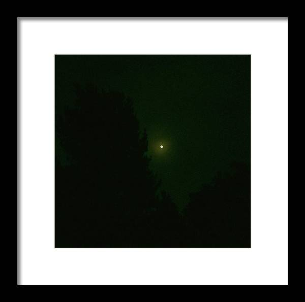Landscape Framed Print featuring the photograph Moon And Trees by Steve Fields
