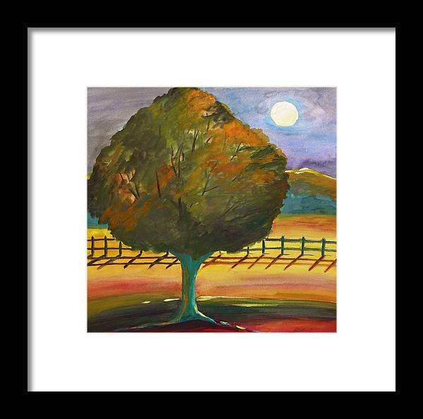 Moon Framed Print featuring the painting Moon Artistry by John Williams