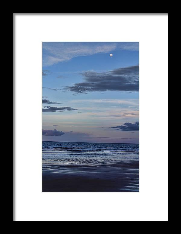 Sea Framed Print featuring the photograph Moon Beach by Douglas Barnard