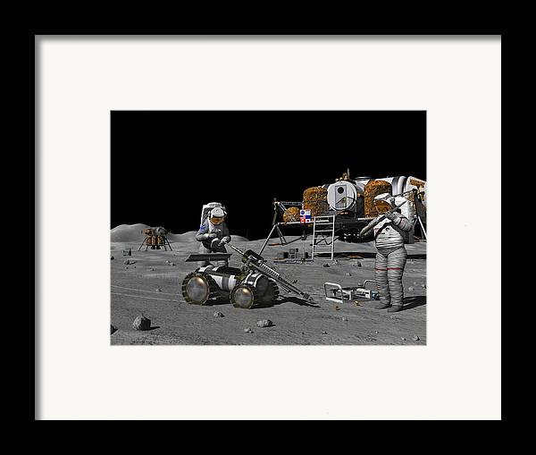 Equipment Framed Print featuring the photograph Moon Exploration, Artwork by Walter Myers