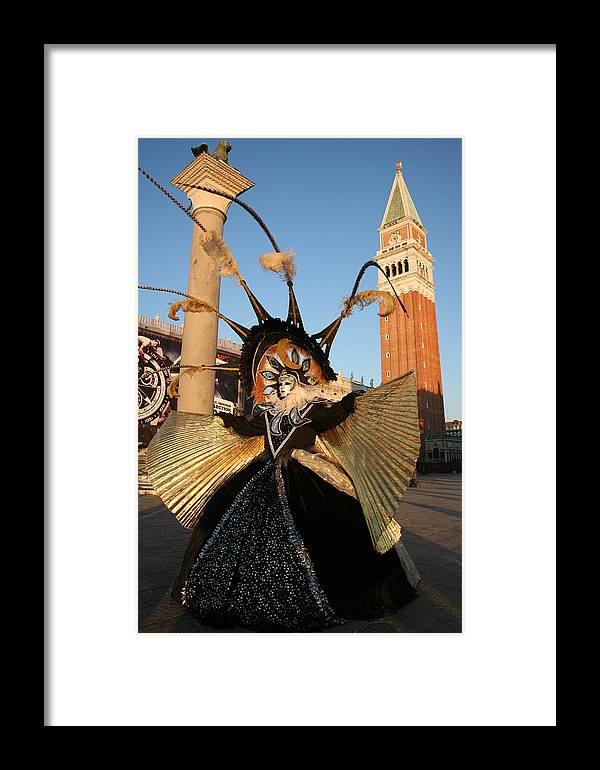 Venice Framed Print featuring the photograph Moon Goddess At Tower by Donna Corless