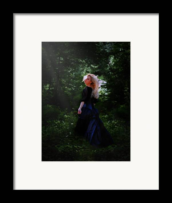 Goth Framed Print featuring the digital art Moonlight Calls Me by Nikki Marie Smith