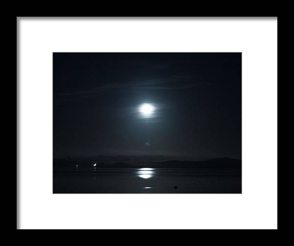 Moon Framed Print featuring the photograph Moonshine by Christopher Mercer
