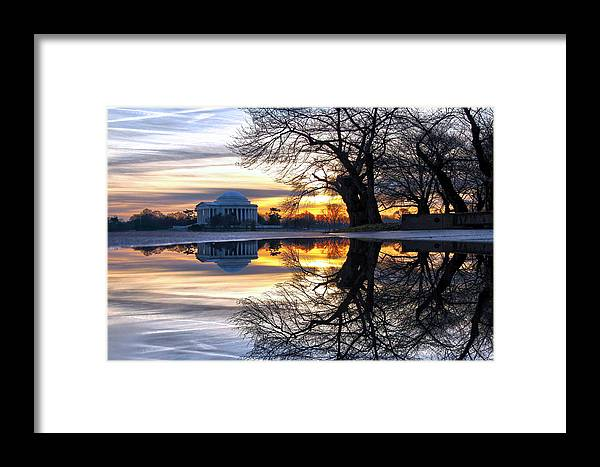 Jefferson Memorial Framed Print featuring the photograph More Than Gold by Mitch Cat