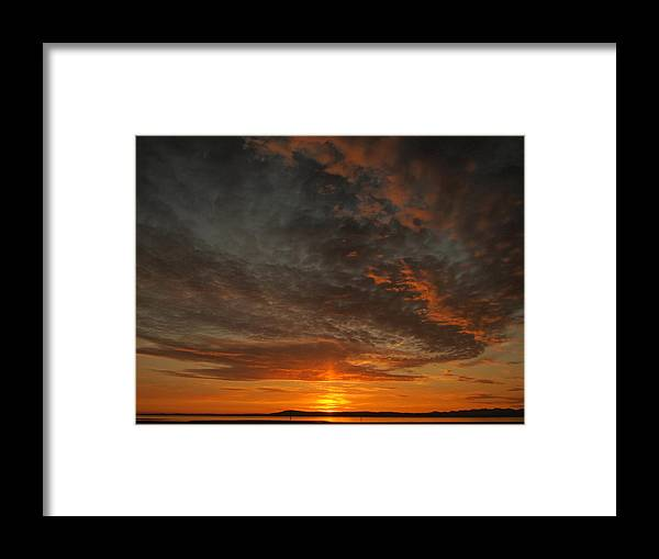 Morecambe Framed Print featuring the photograph Morecambe Sunset by Christopher Mercer