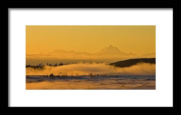Tanana River Framed Print featuring the photograph Morning Fog by Jim and Kim Shivers