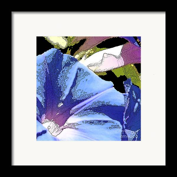 Blue Framed Print featuring the painting Morning Glory by Artist and Photographer Laura Wrede