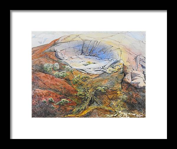 Landscape Framed Print featuring the painting Morning Light Along Georgian Bay by Lin Souliere