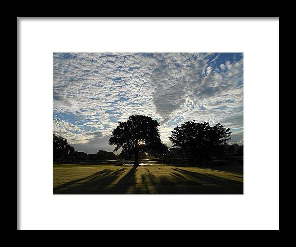Landscape Framed Print featuring the photograph Morning Magic by Sheila Silverstein