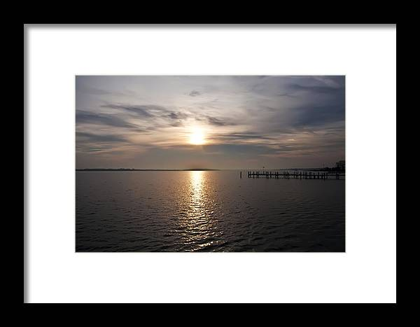 Morning Skies On The Chesapeake Framed Print featuring the photograph Morning Skies On The Chesapeake by Bill Cannon