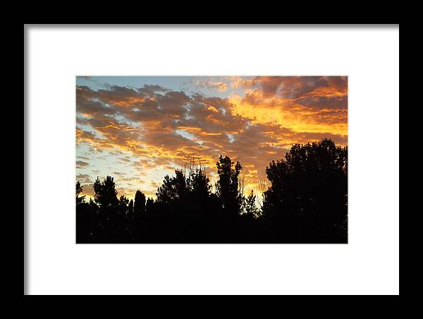 Sky Framed Print featuring the photograph Morning Sky by Robin Cox