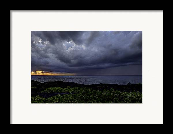Sunrise Framed Print featuring the photograph Morning Squall by Mike Herdering
