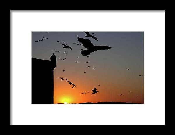 Morocco Framed Print featuring the photograph Moroccan sunset by John Banegas