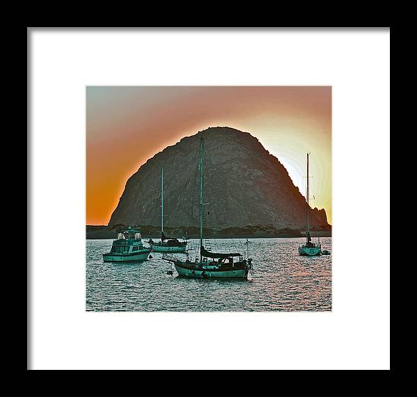 Morro Bay Framed Print featuring the photograph Morro Bay Rock by Bill Owen