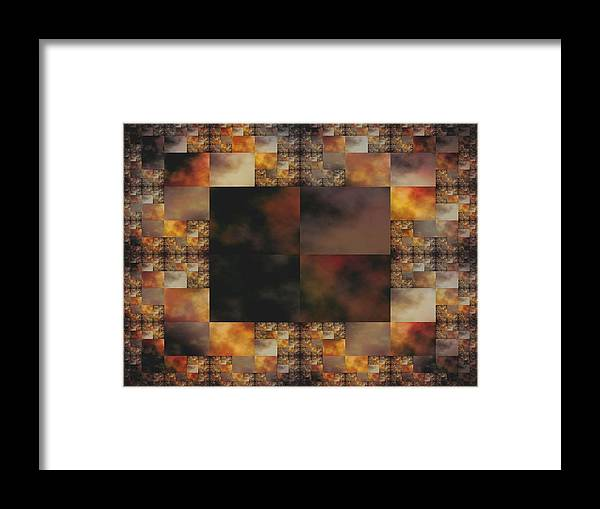 Tiles Photograph Framed Print featuring the digital art Mosaic by Ester Rogers