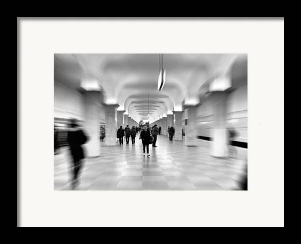 Adult Framed Print featuring the photograph Moscow Underground by Stelios Kleanthous