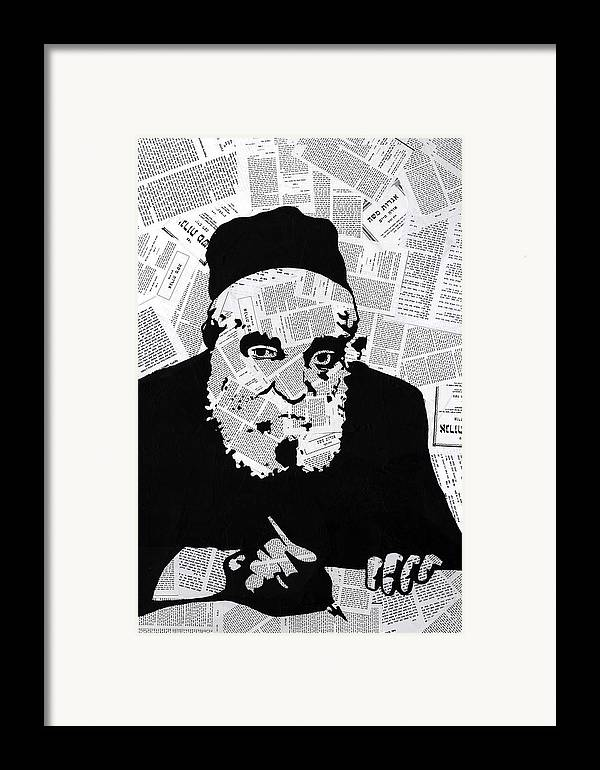 Moshe Framed Print featuring the painting Moshe Feinstein by Anshie Kagan