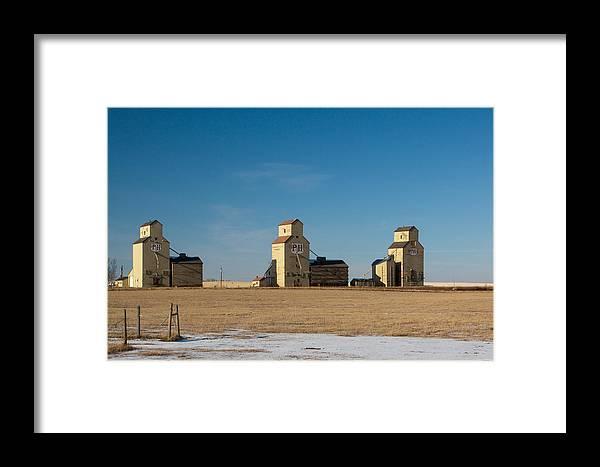Grain Framed Print featuring the photograph Mossleigh Alberta by Jill Lassaline