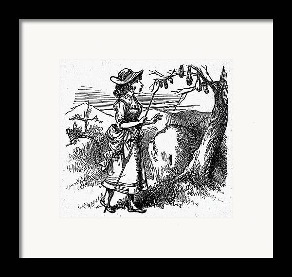 19th Century Framed Print featuring the photograph Mother Goose: Bo-peep by Granger