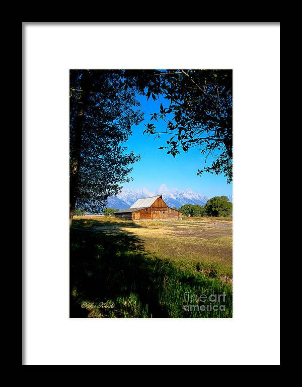 Grand Tetons Framed Print featuring the photograph Moulton Barn by Sue Karski