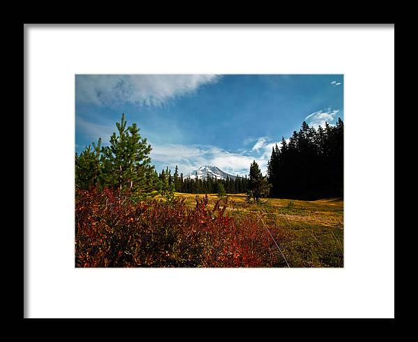Mt Hood Framed Print featuring the photograph Mount Hood Oregon by Steve McKinzie