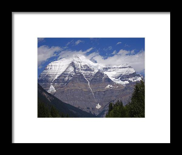 Rocky Mountains Framed Print featuring the photograph Mount Robson by Ellie Coombes