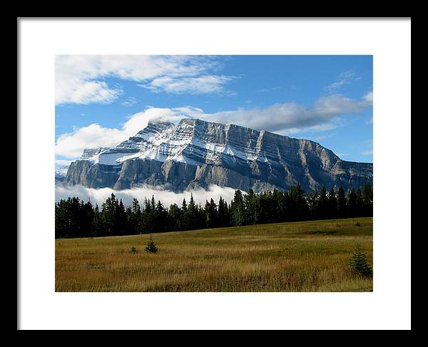 Scenery Framed Print featuring the photograph Mount Rundle by Keith Rohmann