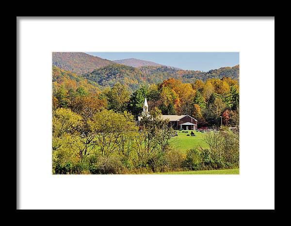 Landscape Framed Print featuring the photograph Mountain Church by Helen Haw