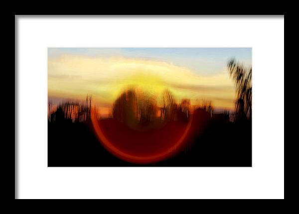 Interesting Framed Print featuring the photograph Mountain Eye by Kantilal Patel
