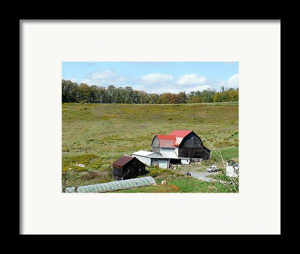 Architecture Framed Print featuring the photograph Mountain Farm by John Turner